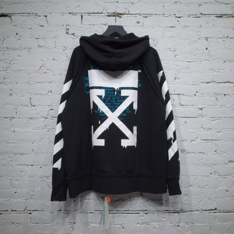 HOODED SWEATSHIRT INCOMP DRIPPING ARROWS BLACK