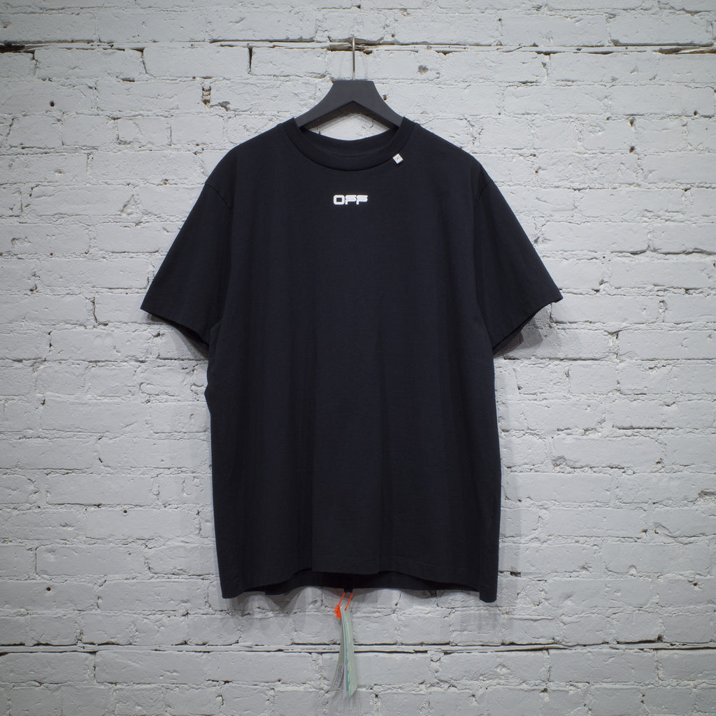 OFF-WHITE SS T SHIRT OVER CARAVAGGIO SQUARE BLACK - OMAA038