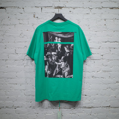 SS T SHIRT OVER CARAVAGGIO SQUARE GREEN