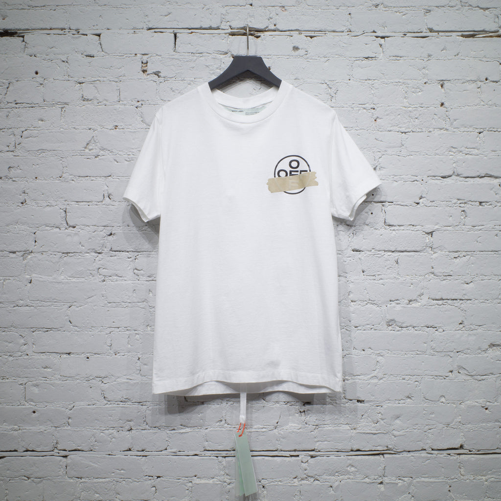 SS T SHIRT SLIM TAPE ARROWS WHITE