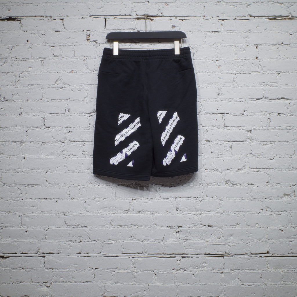 SWEATSHORT AIRPORT TAPE BLACK