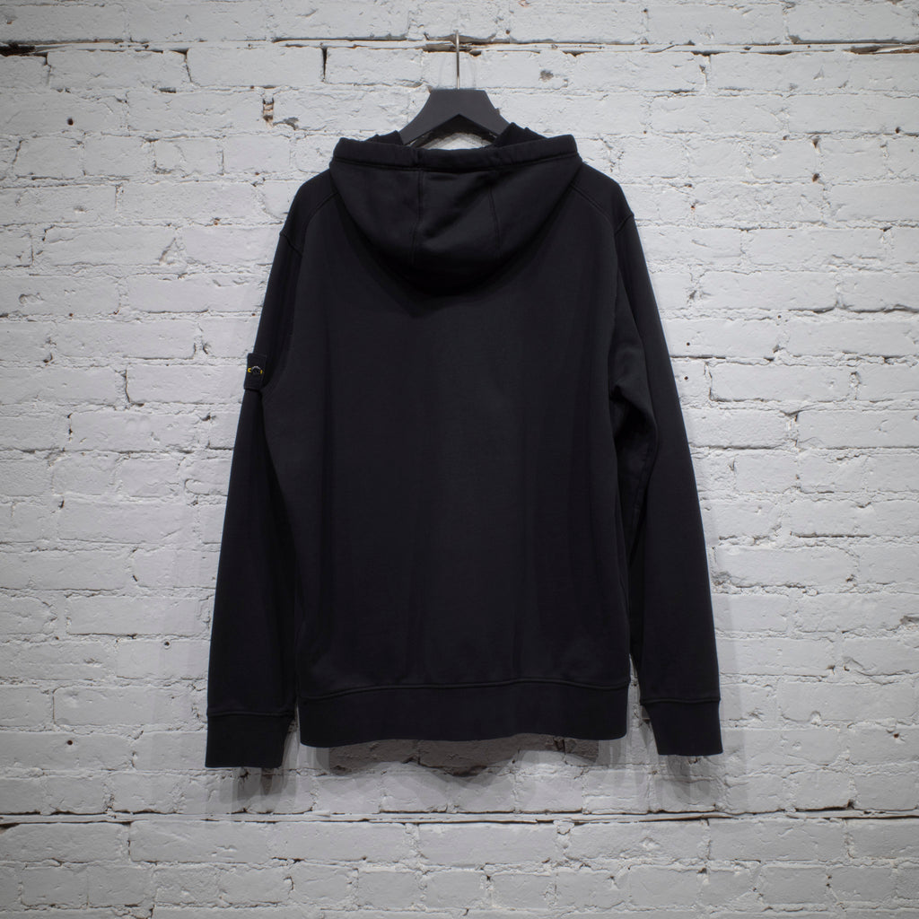ZIP HOODED SWEATSHIRT BLACK