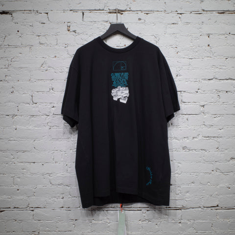 SS T SHIRT DRIPPING ARROWS BLACK