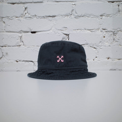 OFF-WHITE BUCKET HAT WASHED BLACK