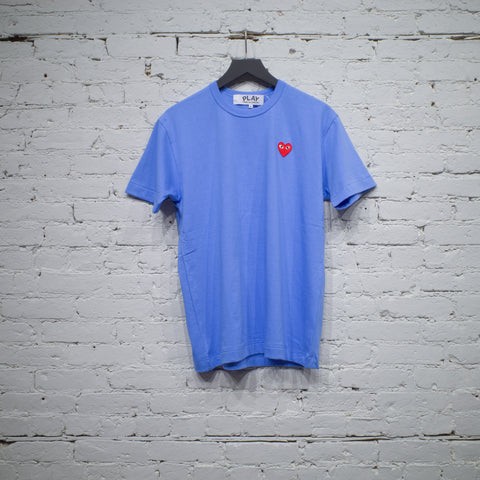 SS T SHIRT BLUE RED HEART