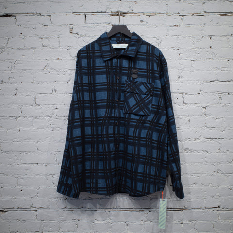 FLANNEL CHECK SHIRT BLUE