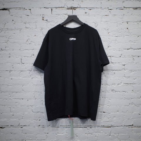 SS T SHIRT OVER AIRPORT TAPE BLACK