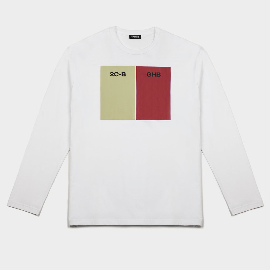 Regular Fit 2CB-GHB LS T Shirt White