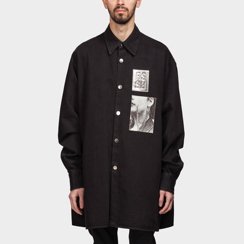 Big Fit Shirt Two Patches Black