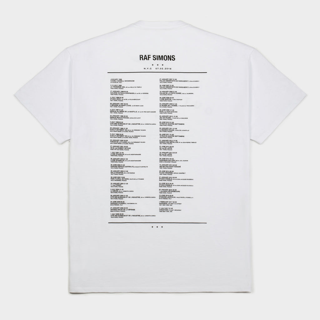 Tour T Shirt White