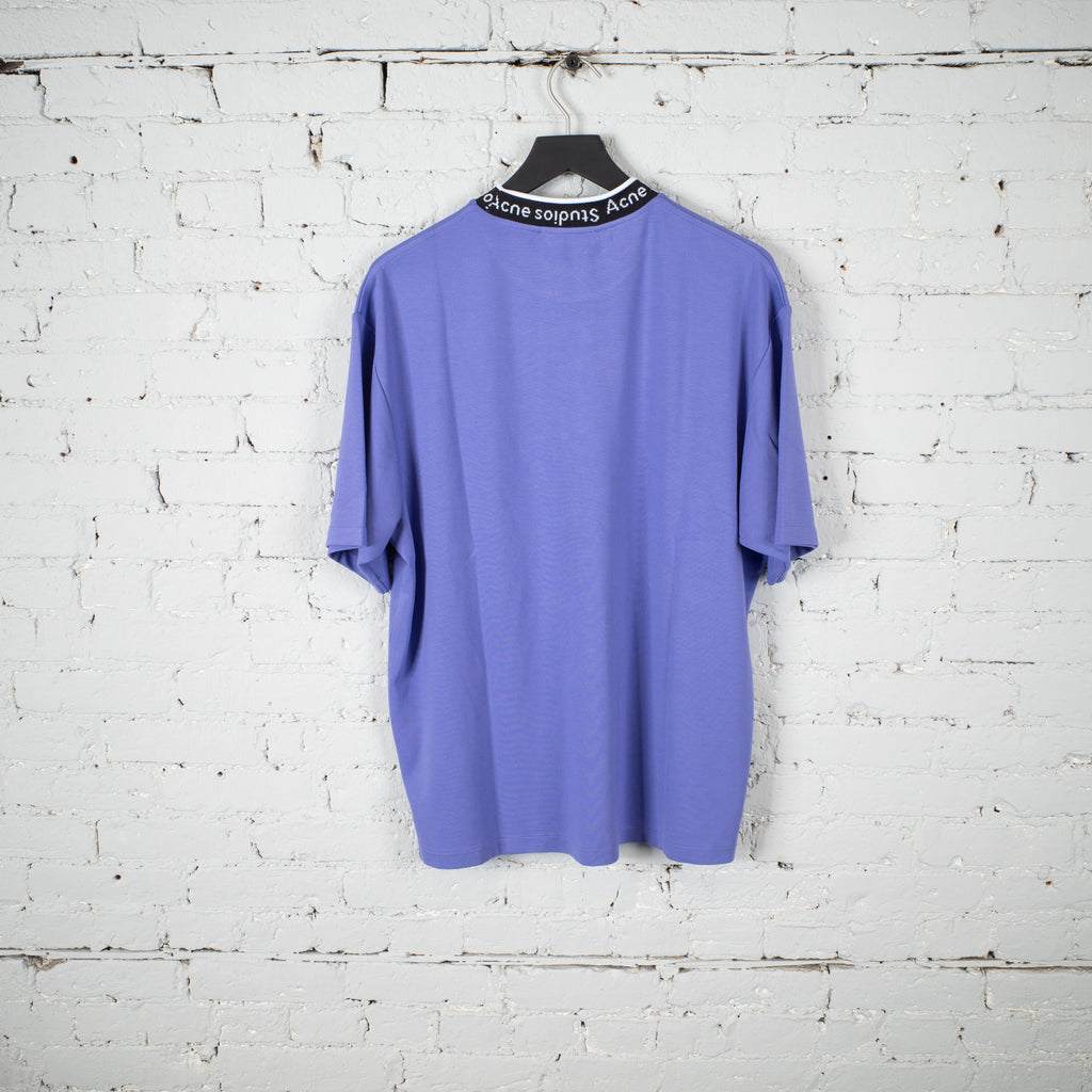 RIB SS T SHIRT PURPLE