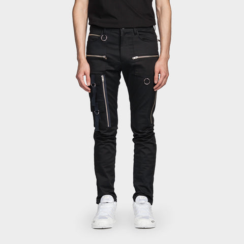 Zipper Pant Black
