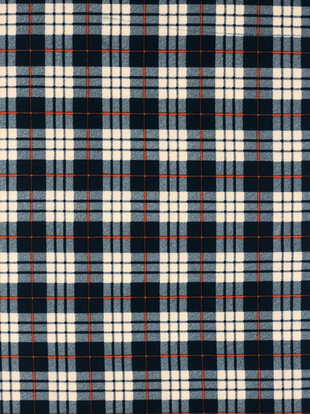 Liverpool Knit Plaid Print Fabric - wholesale fabric