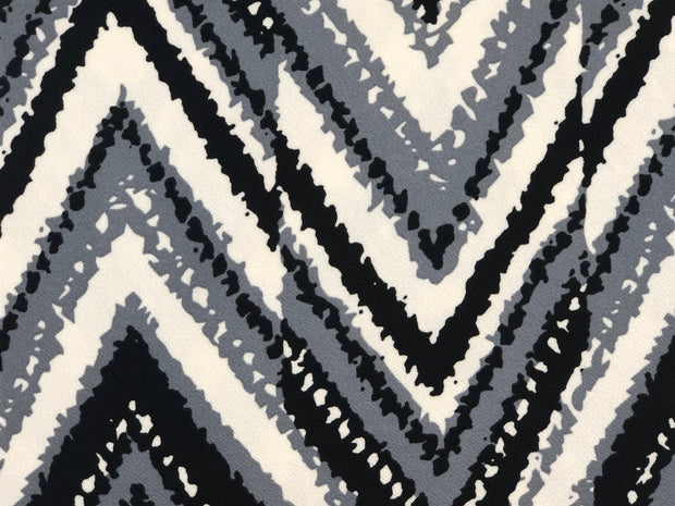Liverpool Knit Geometric Print Fabric - wholesale fabric