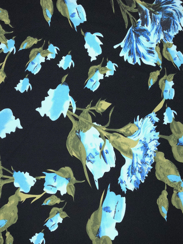 Liverpool Knit Floral Print Fabric - wholesale fabric
