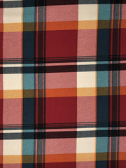 Liverpool Knit Plaid Print Fabric
