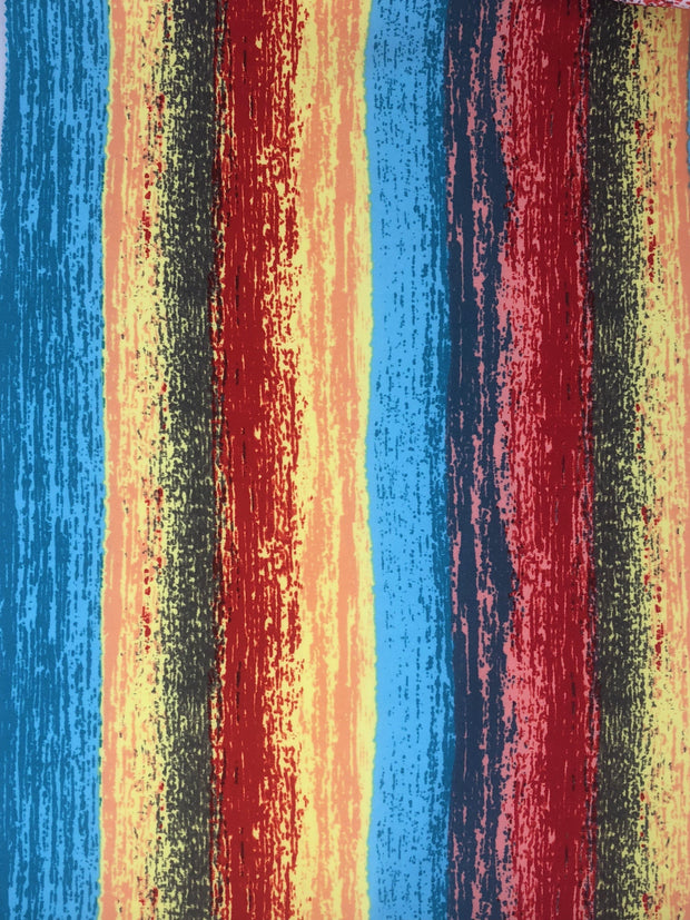 Techno Knit Tie Dye Print Fabric - wholesale fabric