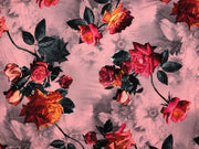 ITY Brushed Knit Floral Print Fabric - wholesale fabric
