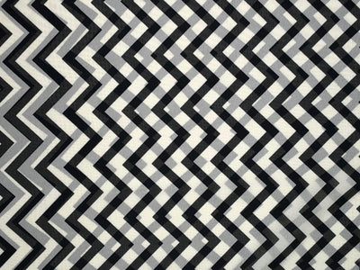 Chiffon Zig Zag Print Fabric - wholesale fabric