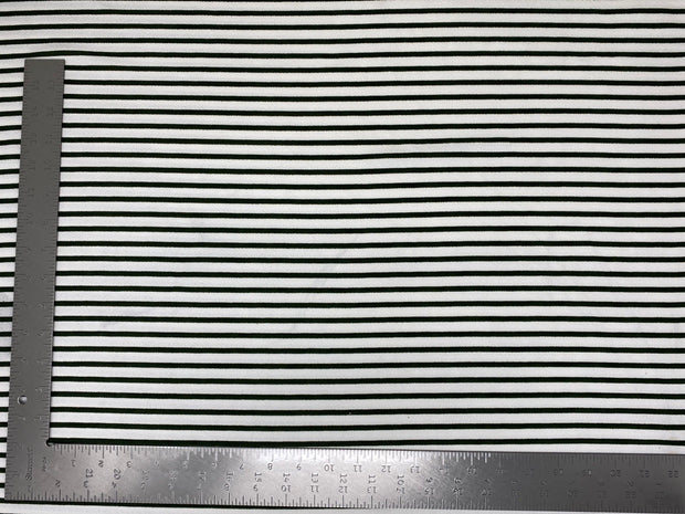 Liverpool Knit Horizontal Stripe Thick and Thin Print Fabric