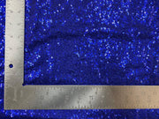 3mm Mini Shiny Sequins on Poly Spandex Mesh Fabric