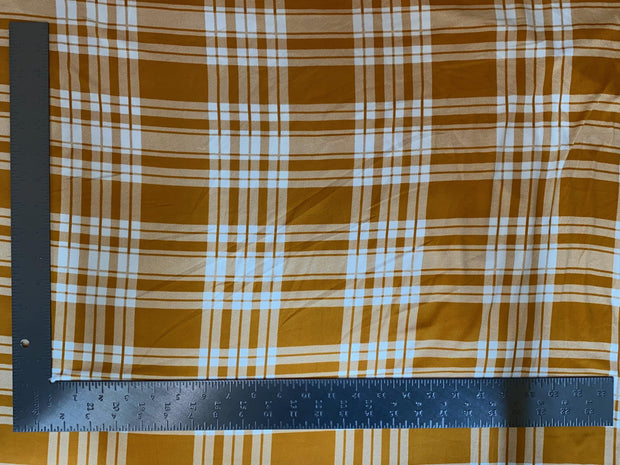 DTY Double Sided Brushed Knit Plaid Print Fabric - Express Knit Inc.