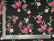 DTY Brushed Knit Floral Print Fabric