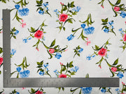 DTY Double Sided Brushed Knit Floral Print Fabric - Express Knit Inc.