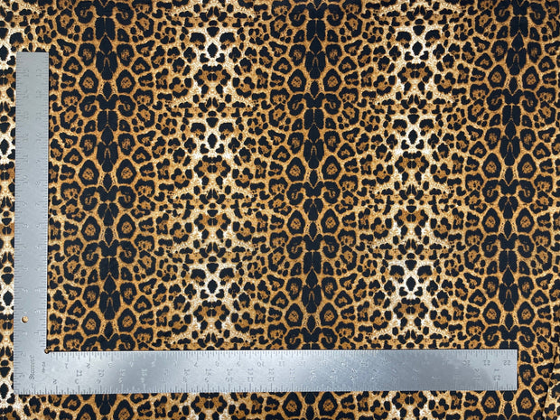 DTY Double Sided Brushed Knit Animal Print Knit Fabric