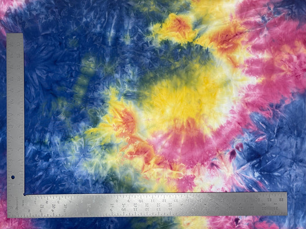DTY Double Sided Brushed Knit Tie Dye Fabric