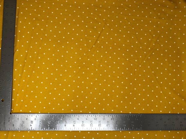 Techno Crepe Knit Pin Polka Dot Print Fabric
