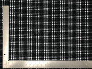 Techno Crepe Knit Plaid Checkered #1 Print Fabric - Express Knit Inc.