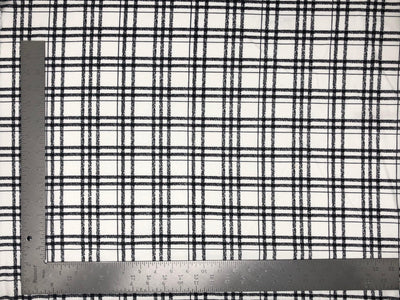 Techno Crepe Knit Plaid Checkered #1 Print Fabric