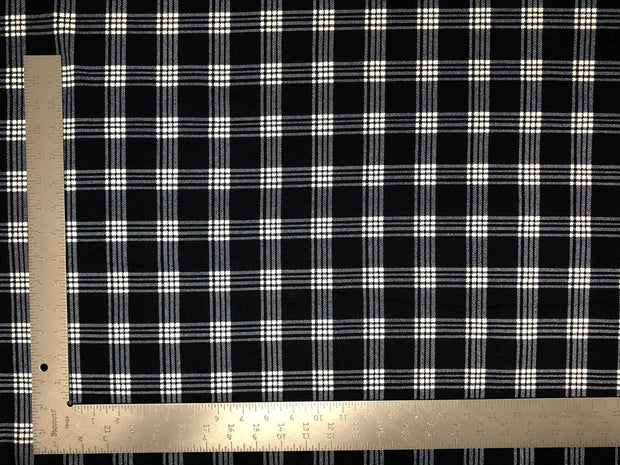 Techno Crepe Knit Plaid Checkered #2 Print Fabric