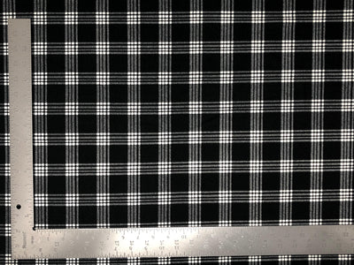 Techno Crepe Knit Plaid Checkered #2 Print Fabric - Express Knit Inc.