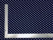 DTY Brushed Knit Small Polka Dot Print Fabric