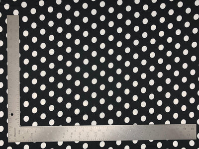 DTY Double Sided Brushed Knit Big Polka Dot Print Fabric - Express Knit Inc.