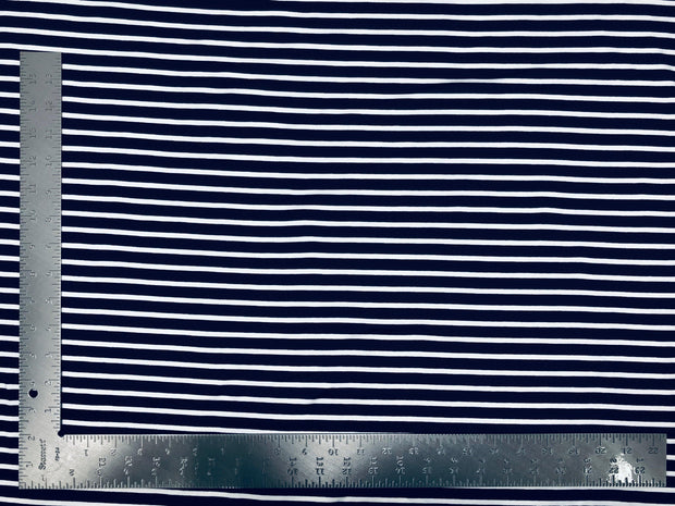DTY Double Sided Brushed Knit Horizontal Summer Stripes Print Fabric - Express Knit Inc.