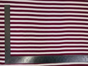 "DTY Brushed Knit Horizontal 1/2"" Stripes Print Fabric"