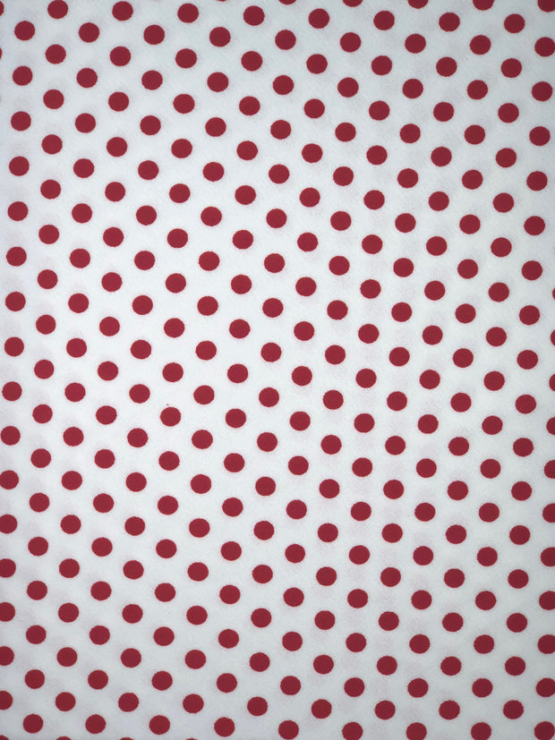 Liverpool Knit Polka Dot Print Fabric - wholesale fabric