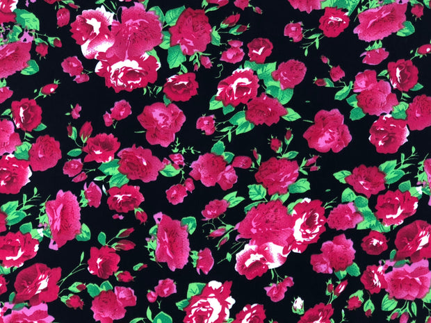ITY Knit Floral Print Fabric - wholesale fabric