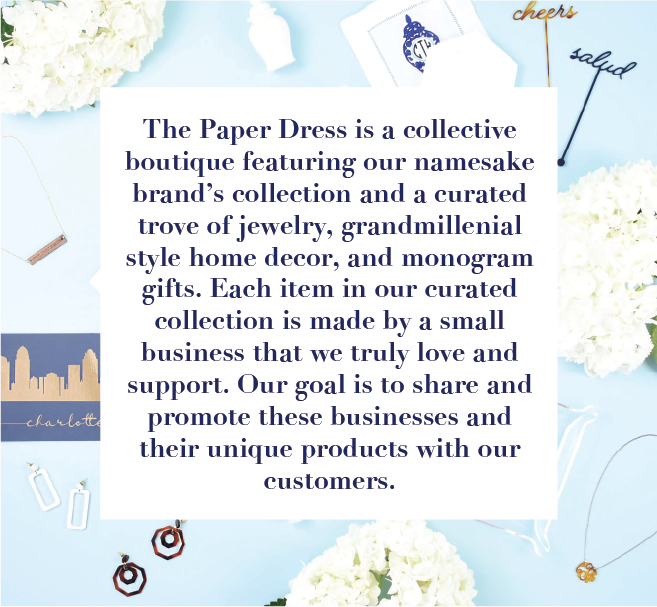 the paper dress boutique - lightweight earrings - grandmillenial blue and white home decor