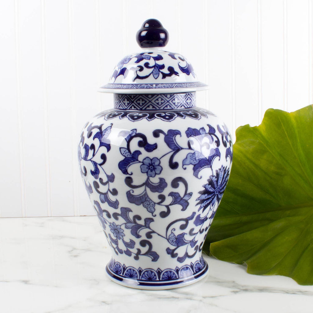 blue and white ginger jar - chinoiserie pot