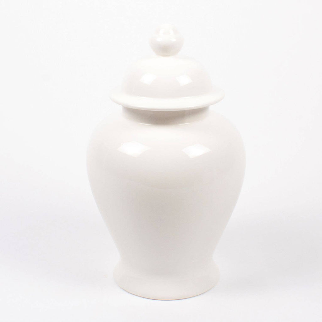 extra large white lidded ginger jar