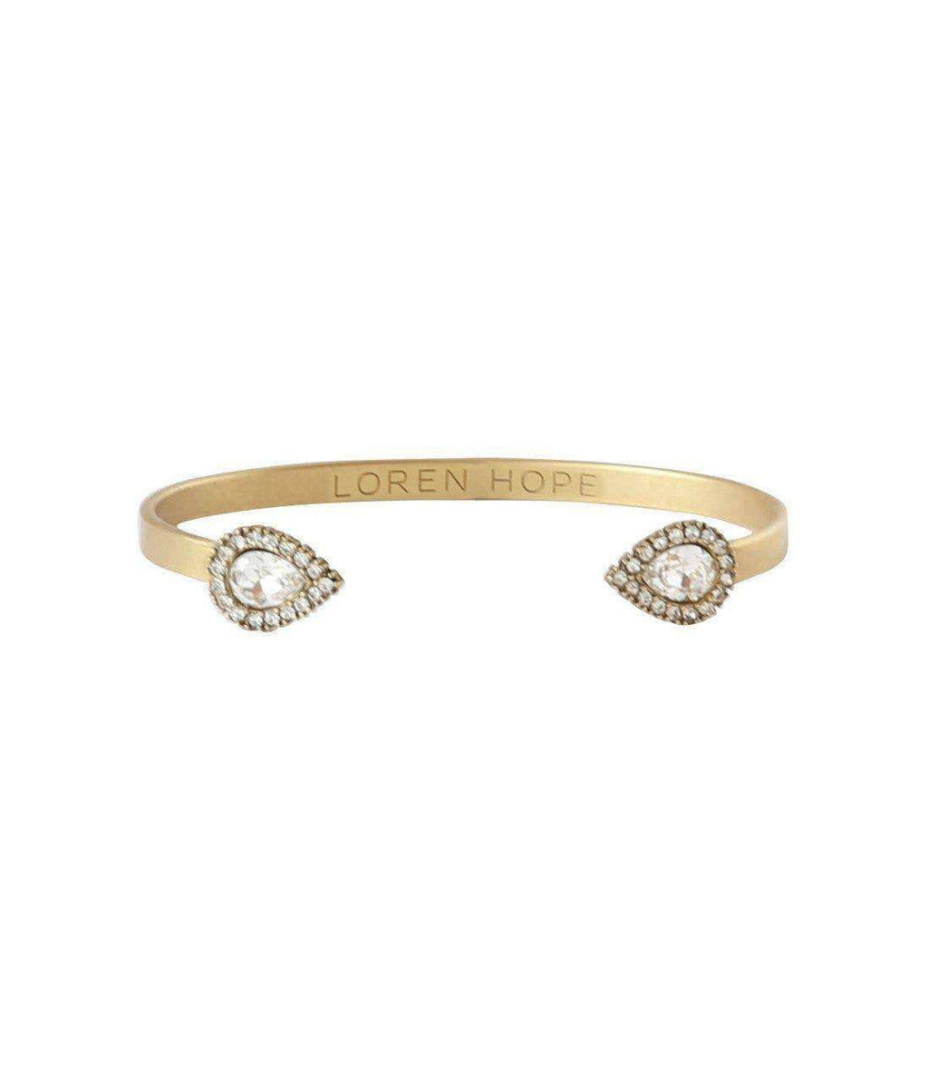 CRYSTAL MINI SARRA CUFF - loren hope jewelry