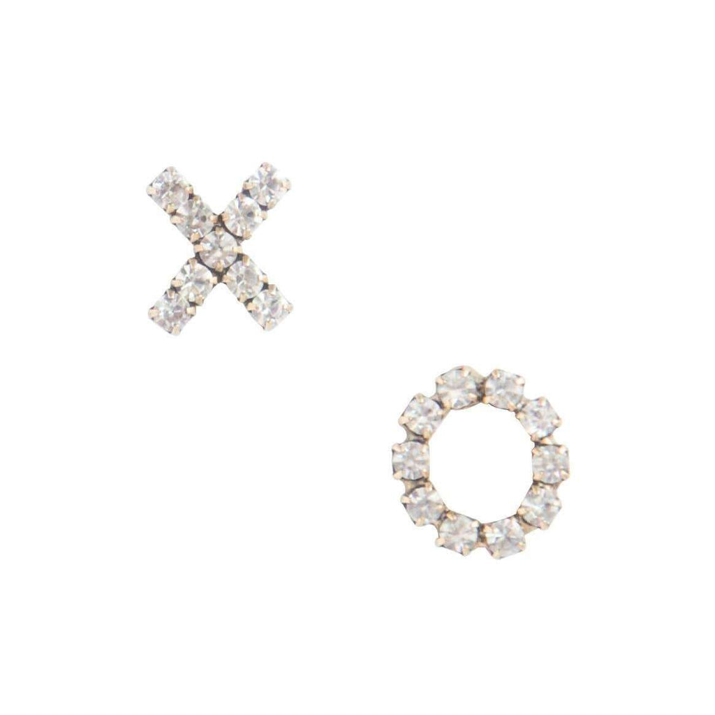 X O stud earrings - loren hope crystal jewelry