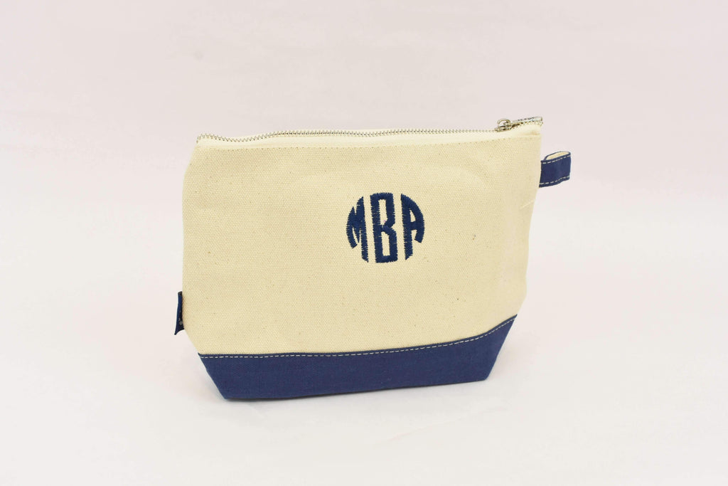 monogrammed zip bag - personalized zippered mini tote
