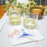 personalized cocktail napkin - tassel embroidery