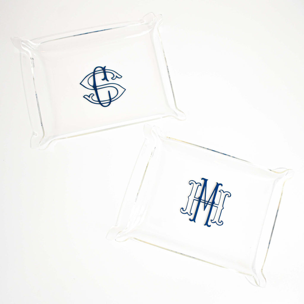 personalized acrylic tray | monogram jewelry organizer