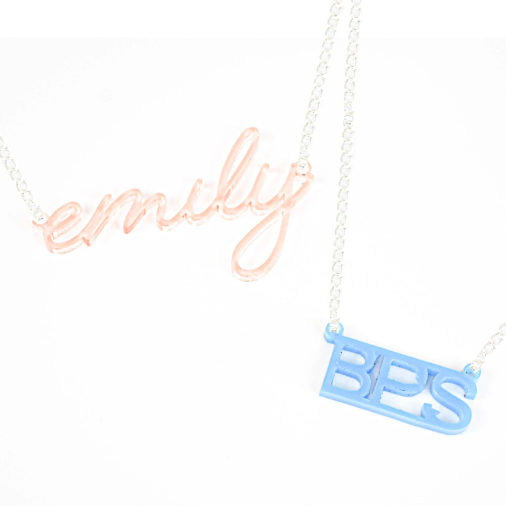 custom nameplate necklace | carrie SATC necklace